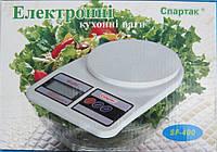 Кухонні ваги до 10 кг (Спартак) з батарейками