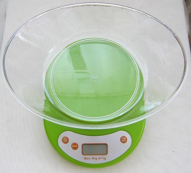 Кухонные весы с чашей до 5кг (1грамм)