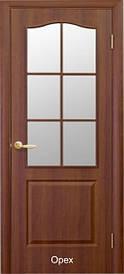 Дверное полотно Классик со стеклом пвх De luxe