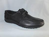 Подростковые туфли на мальчика оптом 36-41 р. на плоской подошве, со шнурками