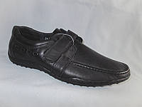 Подростковые туфли на мальчика оптом 36-41 р. на спортивной подошве с липучкой