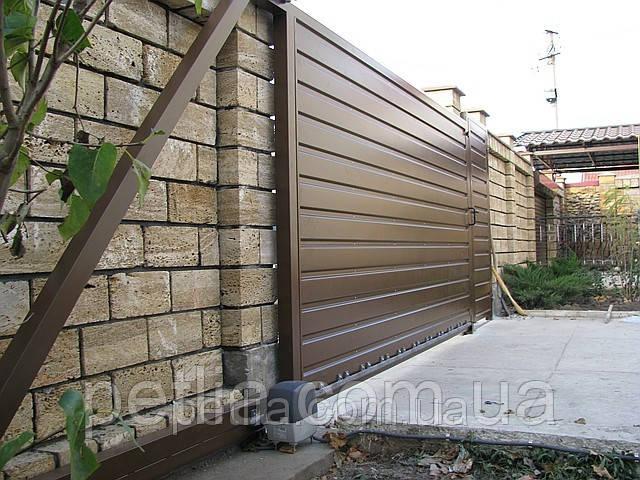 Ворота откатные консольного типа