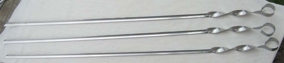 Набор угловых шампуров 10 штук, 2мм