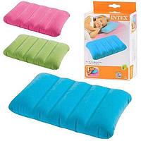 Надувная подушка Intex 68676 (28х43х9см),три цвета