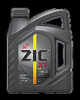 Полусинтетическое моторное масло Zic X7 10w-40 4л