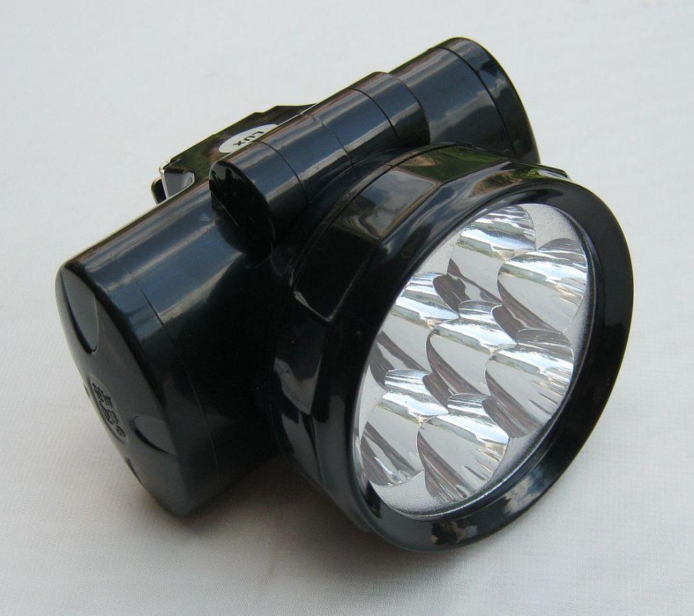 Налобный аккумуляторный фонарик на 7 светодиодов, YJ-1858