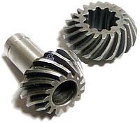 Шестерни, коническая пара редуктора (9 зубьев) для триммера.