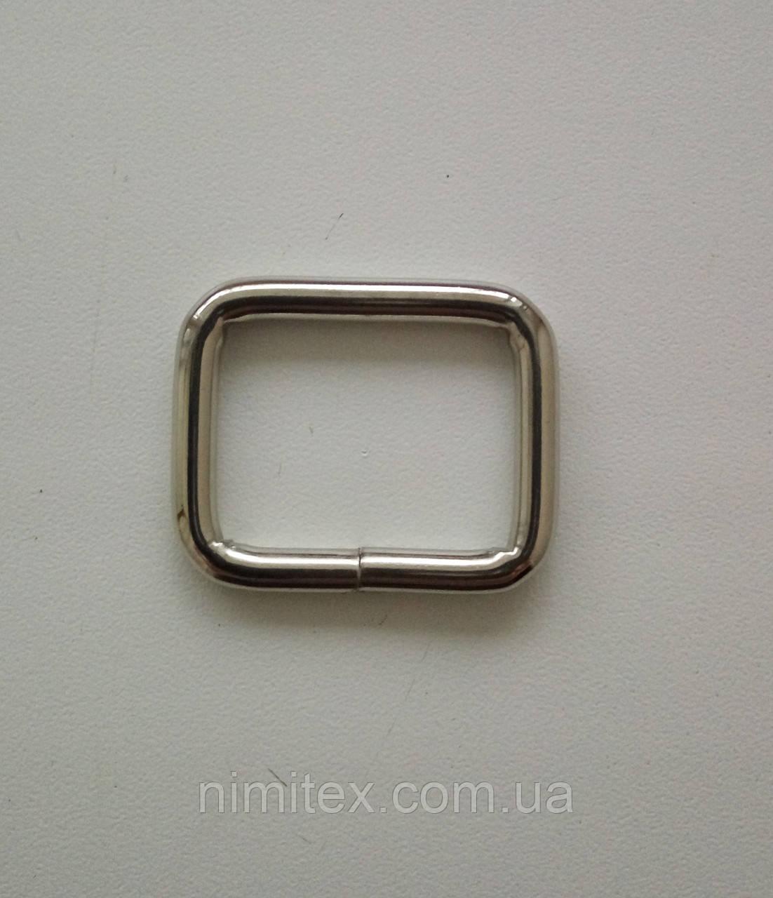 Рамка литая 25 мм никель
