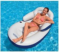 Пляжне надувне крісло-шезлонг Intex 58864 (180*135 см)