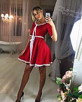 Женское стильное платье с поясом (в расцветках)