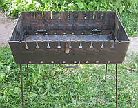 Раскладной мангал чемодан на 10 шампуров 2мм