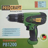 Мережевий шуруповерт Pro Craft Pb1200