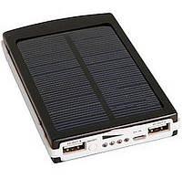 Солнечное портативное зарядное Power Bank 15000 mAh, 20smd (три режима работы), фото 1