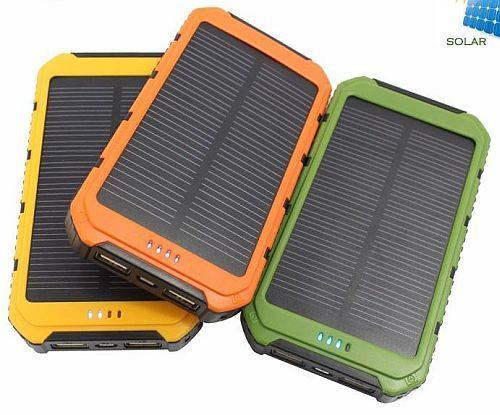Солнечное портативное зарядное Power Bank 15000 mah