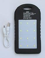Солнечное портативное зарядное Power Bank Ukc A50, 10800 mah