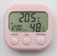 Термометр - гигрометр TA638 с часами, календарем и будильником, фото 1