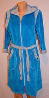 Женский ведюровий халат с вставками, оптом и в разницу