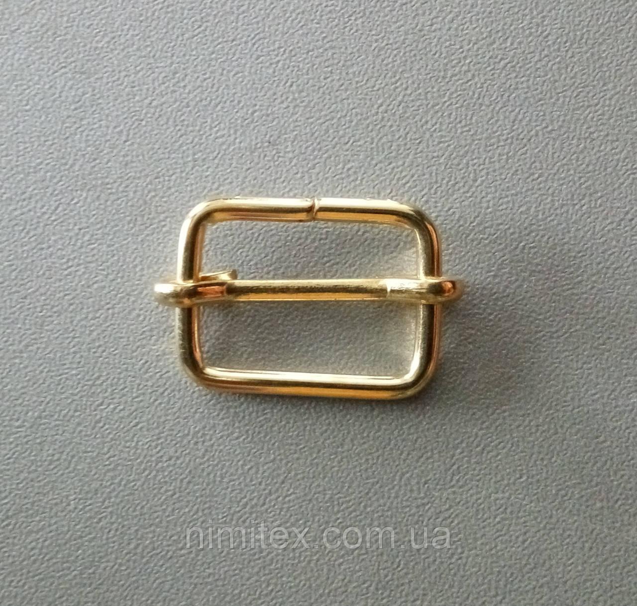 Регулятор перетяжка 20 мм золото