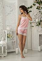 Шёлковая пижама шорты с майкой