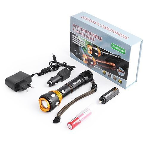 Фонарь Police 8055 (Power Bank, 2зарядки, аккумулятор)