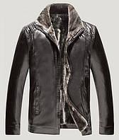 Куртка мужская на овчине.Натуральная кожа.Большие размеры.