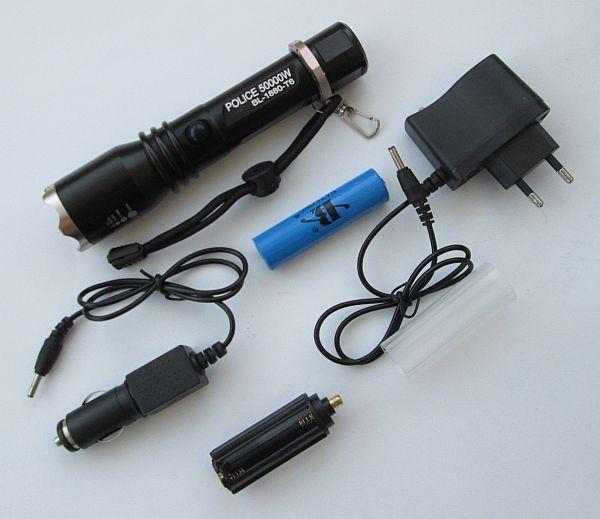 Фонарь светодиодный  Police BL-1880-Т6 50000W