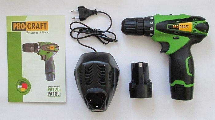 Шуруповерт аккумуляторный Pro Craft Pa12Li