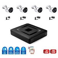 Комплект видеонаблюдения на 4 камеры. S1004HN
