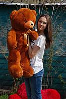 Мишка плюшевый Тедди коричневый 120 см
