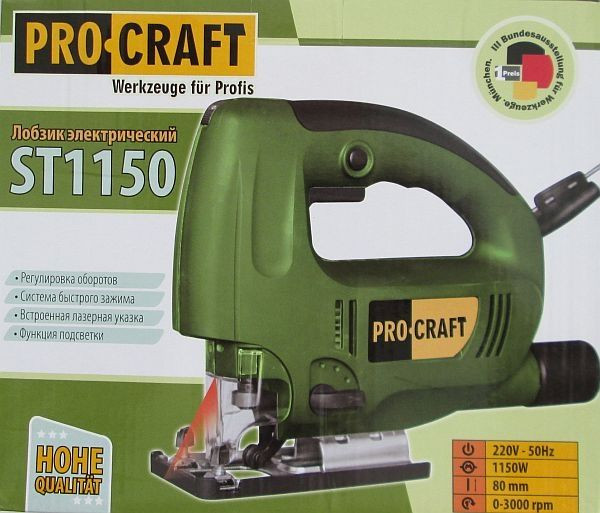 Электролобзик Pro Craft St1150