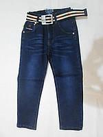 Джинсы для мальчика рост 110-140 см на резинке,+ремень