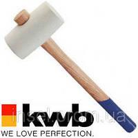 Киянка резиновая, деревянная рукоятка kwb