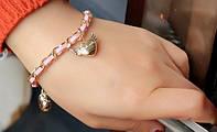 Браслет с сердечком, розовый (tb8065)