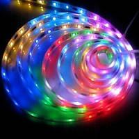 1 метр LED smd 5050 подсветка днища авто RGB лента 60 шт\м полноцветная, водонепроницаемая
