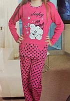 Красивая детская пижама для девочки в горошек 4126