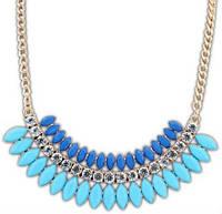 Ожерелье колье сине tb1182