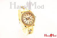 Женские часы наручные Michael Kors желтые (копия)