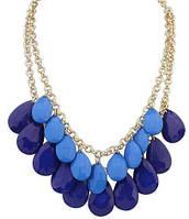 Ожерелье Колье синее tb1253