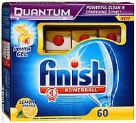 Таблетки для посудомоечных машин Finish Quantum Лимон 60 шт. (Финиш)