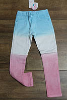 Джинсы для девочек 4-6-8-10 лет Цвет:Синий, голубой
