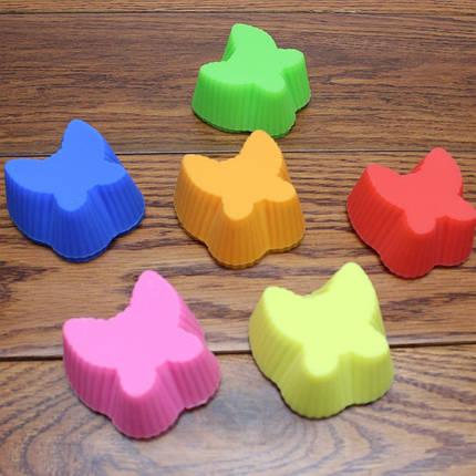 Силиконовая форма для кекса бабочка, фото 2