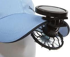 Вентилятор на кепку на сонячній батареї