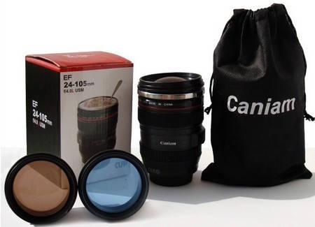 Термочашка с линзой в форме объектива Caniam (Canon) EF 24-105, фото 2