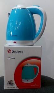 Электрочайник Domotec DT-901, нержавейка-пластик, 1.8 л. Электрочайник DT901 дисковый.