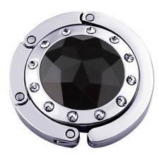 Крючок держатель для женской сумки Кристалл Черный