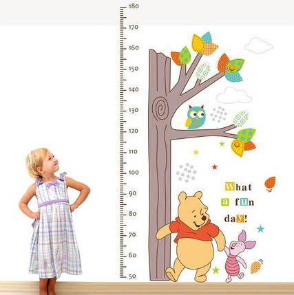 Наклейка ростомір Вінні Пух (ABC1020), фото 2