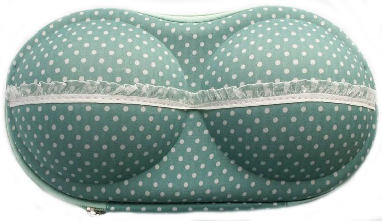 Органайзер - сумочка для бюстгалтеров (с сеточкой), мелкий горошек