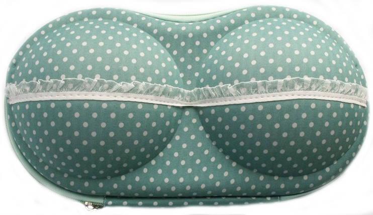 Органайзер - сумочка для бюстгалтеров (с сеточкой), мелкий горошек, фото 2