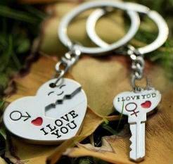 Парные брелки для влюбленных - Сердце с ключом, фото 2