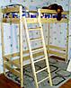 Двухъярусная кровать-чердак деревянная высотой 187см